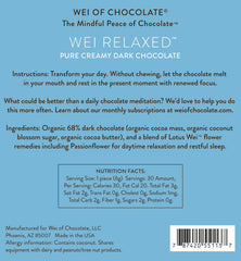 Wei Relaxed Dark Chocolate - 50 pieces bulk