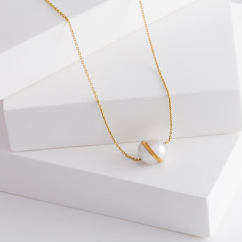 Divide slide face +1mm necklace
