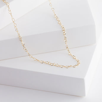 Heart chain necklace (yellow gold)