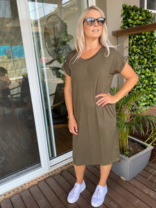 Avalon Dress (khaki}