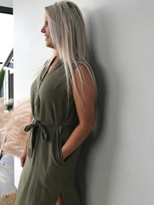 Kace Midi Dress ( khaki)
