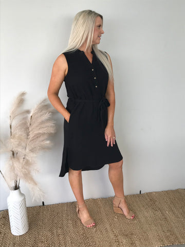 Kace Midi Dress (Black)