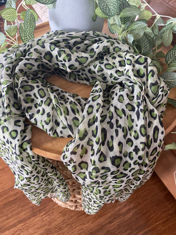Peppermint Green Print Scarf