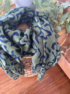 Green and Navy Scarf