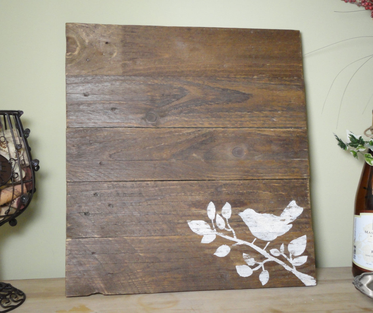 """Bird"" Reclaimed Wood Wall Art - Another Rinse"
