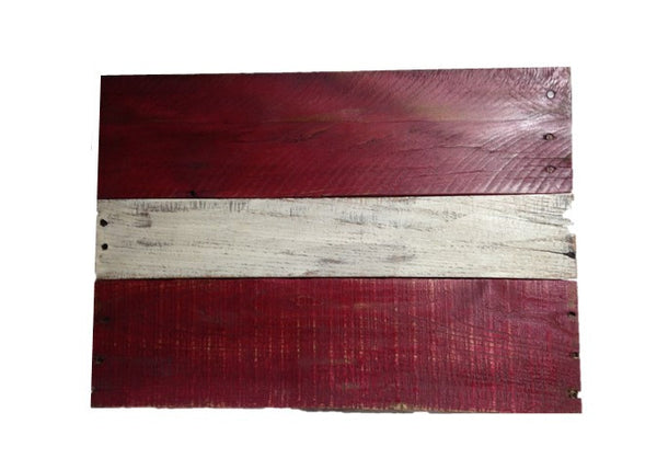 Latvian Flag - reclaimed wood - Another Rinse