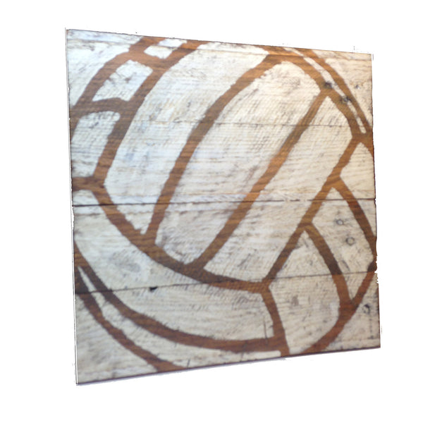Reclaimed Wood Wall Art: Volleyball - Another Rinse