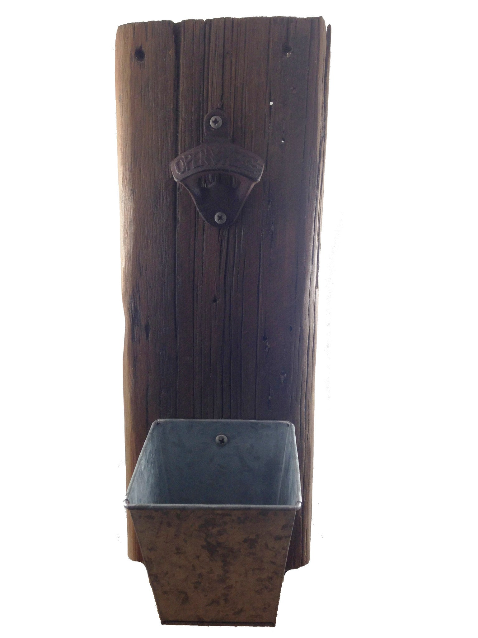 Reclaimed Wood Wall Bottle Opener (brown) - Another Rinse