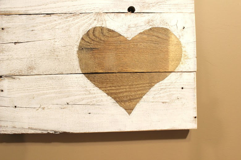 """Heart"" Reclaimed Wood Wall Art - Another Rinse"
