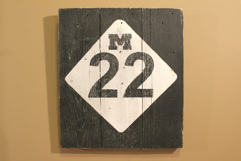 """M22"" Reclaimed Wood Wall Art - Another Rinse"