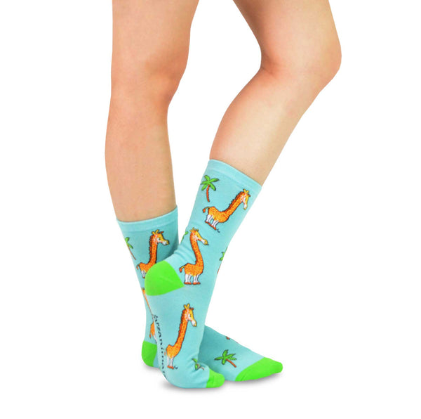 Tarzanimals Fun Silly Cartoon Safari Animal Tarzan Crew Socks
