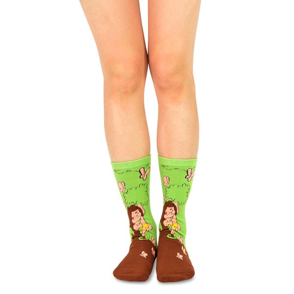 Tarzanimals Fun Silly Cartoon Animal Hippo Tarzan Crew Socks