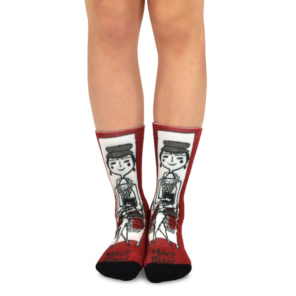 Mary Blair Classic Animation Novelty Women Crew Printed Socks