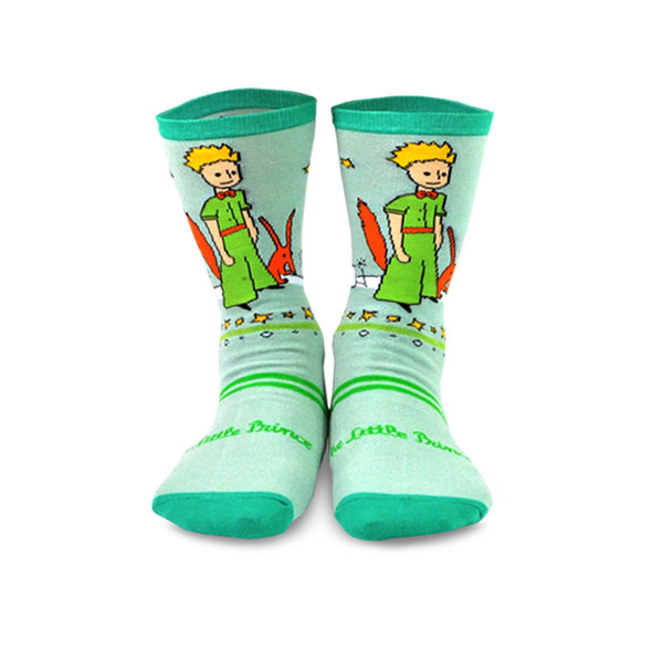 The Little Prince Silly Fun Fox and Airplane Kids Crew Socks - 3 Pairs