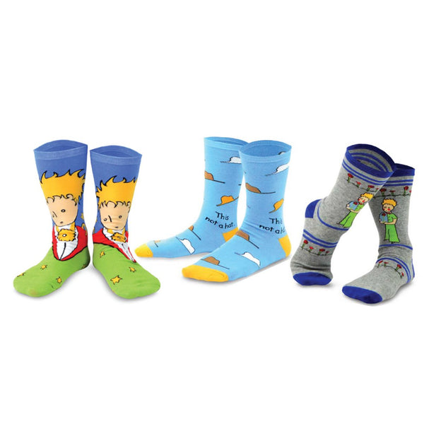 The Little Prince Silly Fun Fox, Rose, and Airplane Kids Crew Socks