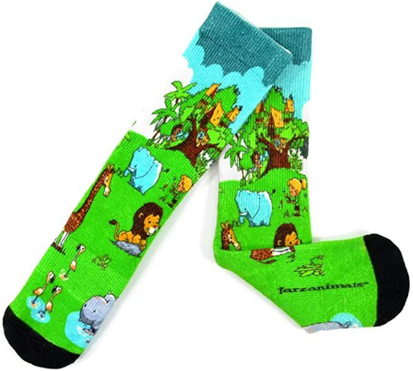 Tarzanimals 360 degree Digital Printing Half Cushion Crew Socks