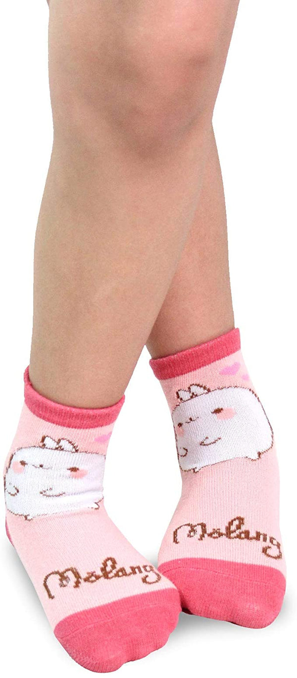 Molang Girls' Fun Wacky Colorful Crew Socks