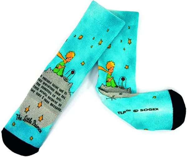 The Little Prince 360 degree Digital Printing Half Cushion Crew Socks