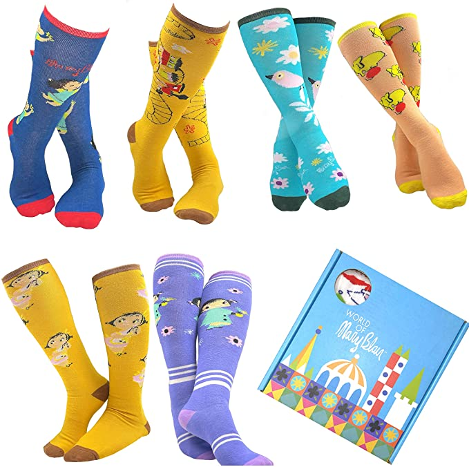 Mary Blair Girls Funny and Cute Knee High Gift Box set
