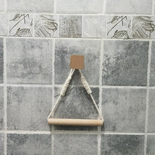 Load image into Gallery viewer, Retro Kitchen Roll Paper Accessory Hanging Rope Wall Mounted toilet paper holder Tube Bathroom Decor Rack Holders