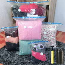 Load image into Gallery viewer, Air Vacuum Compressed Storage Bag Home Organizer Transparent Border Foldable Seal travel Saving Space Package Bags for clothes