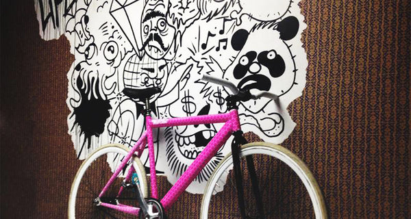 "Artist Spotlight - Justin Abdella and his ""Breast Cancer Awareness"" Bike"