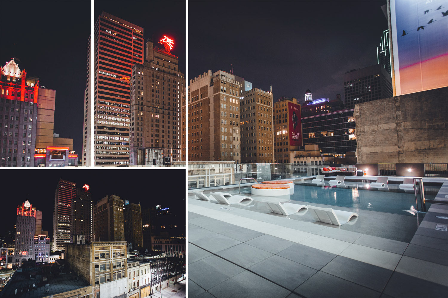 Dallas at Night Rooftop