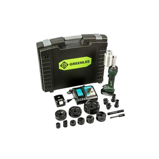 "Greenlee LS100X11SBSP4 Intelli-Punch Tool 11 Ton con Slugbuster Knockouts 1/2"" - 4"""