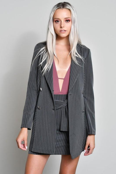 Ashley Grey Double Breasted Jacket