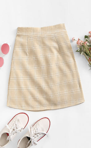 Sylvia Plaid Skirt