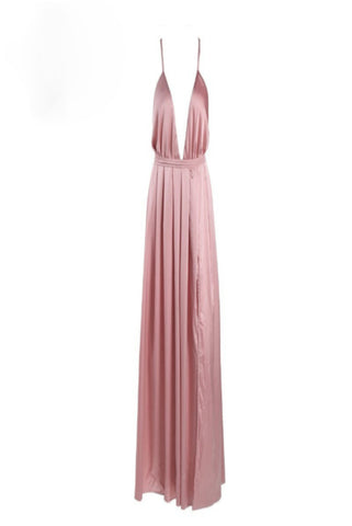 Kayleigh Pink Plunge Dress