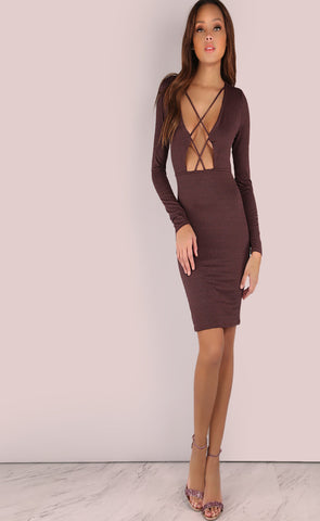 Rebecca Criss Cross Bodycon