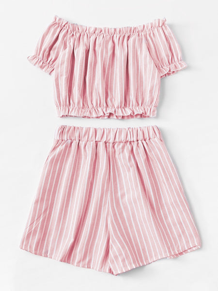 Evie Pink Two Piece