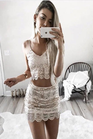 Anna Sequin Two Piece