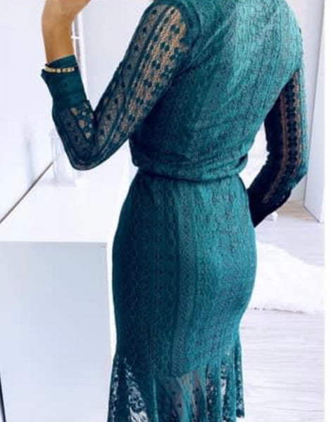 Jessica Structured Lace Dress