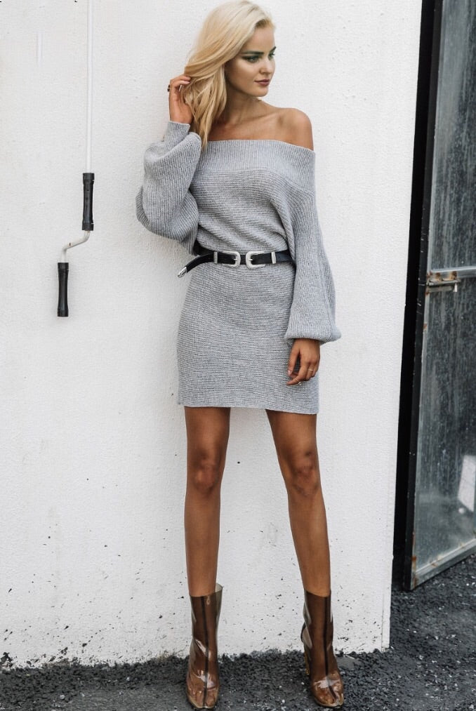 Britney Grey Jumper Dress