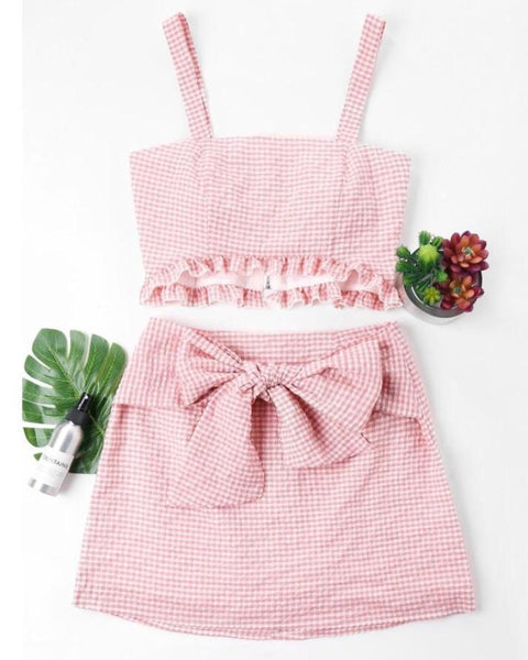 Sweetheart Gingham Set