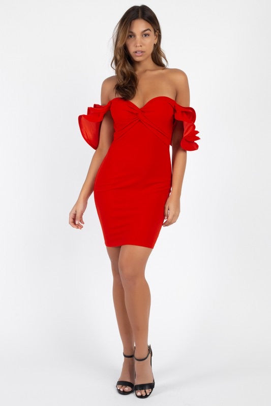 Kelsey Red Bodycon