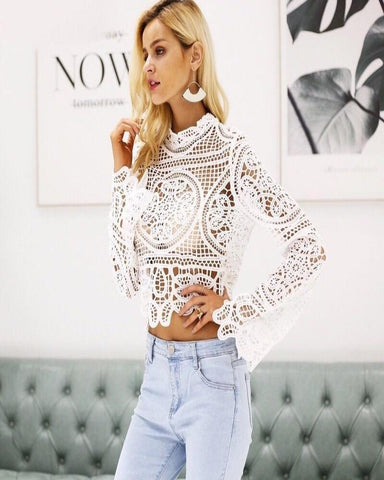 Lollie Lace Crop
