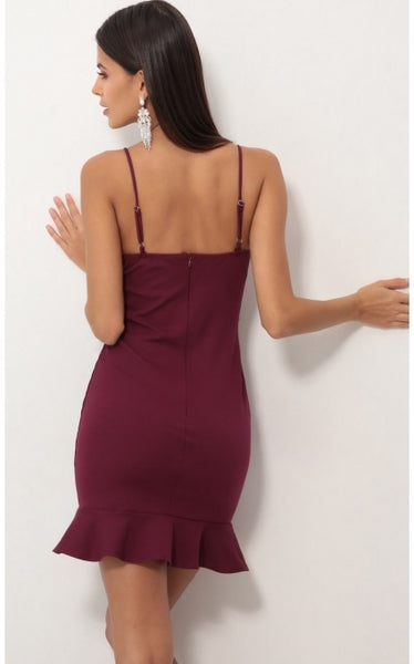 Natalie Plum Dress