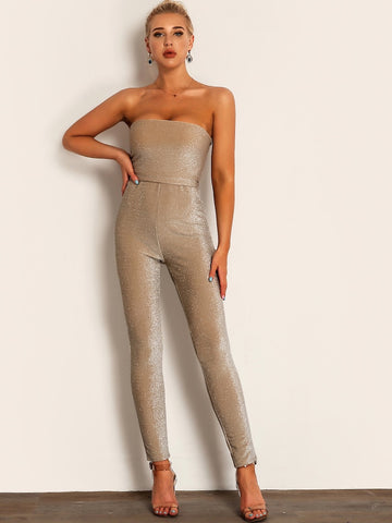 Sasha Gold Jumpsuit