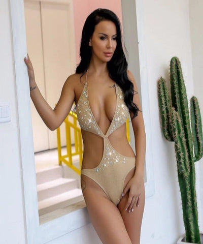 Tiana Gold Swimsuit