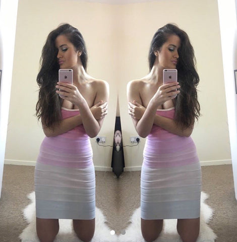 Lily Multi Colour Bandage Dress