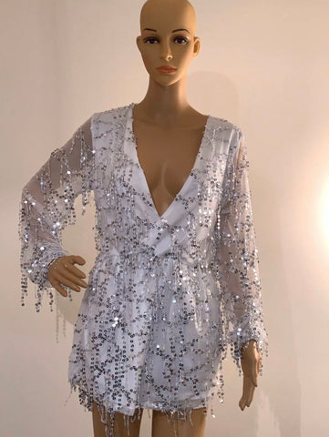 Alice Sequin Playsuit