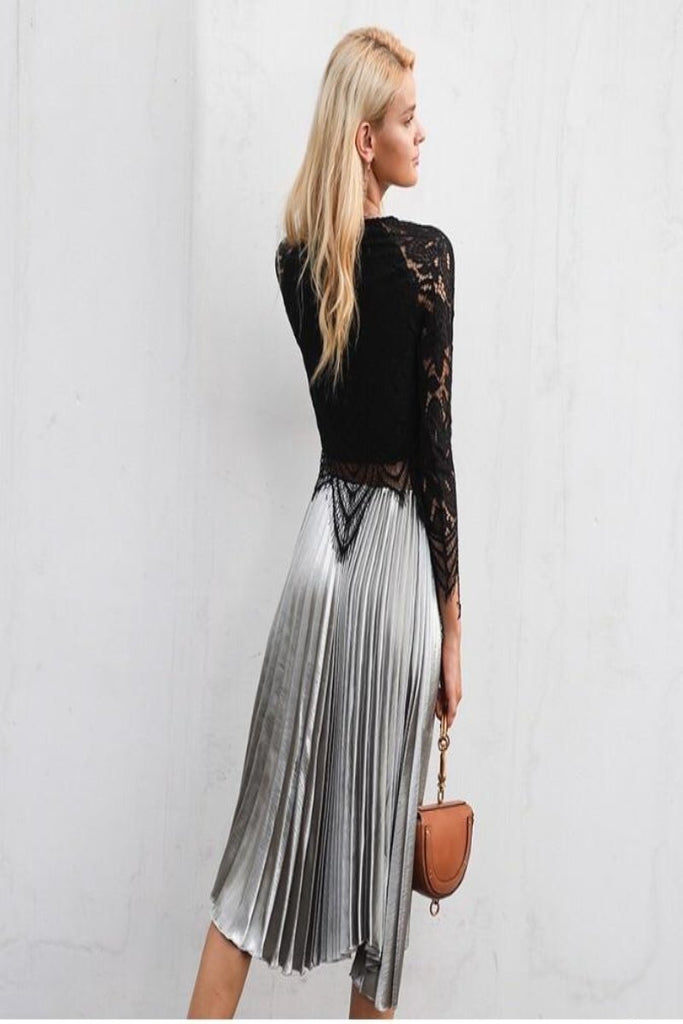 Alba Metallic Skirt