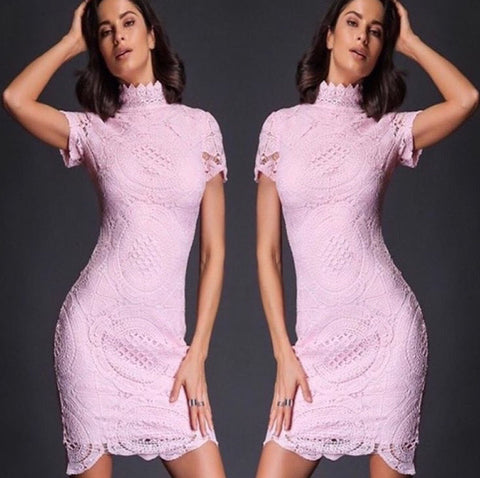 Annie Pink Lace Dress