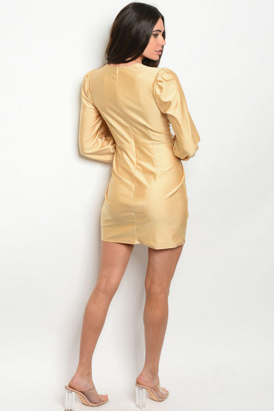 Miley Gold Bodycon