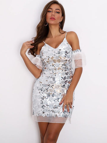 Chrissy Sequin Dress