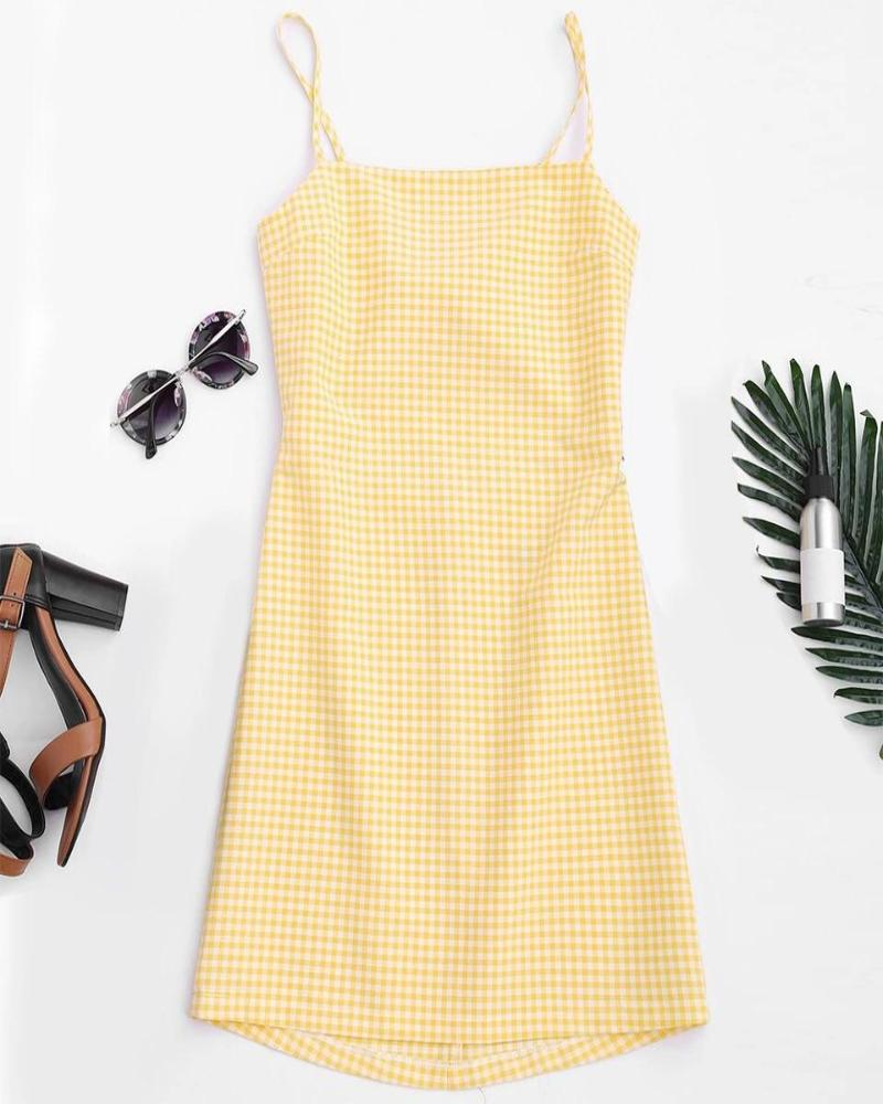 Sandy Gingham Dress