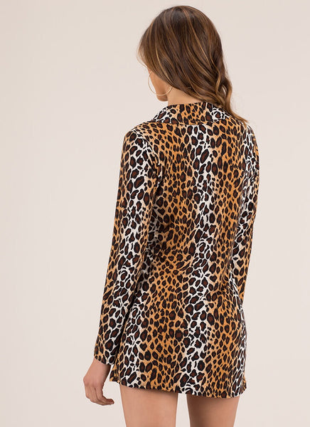 Aimee Leopard Dress